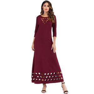 Women Sleeveless Summer Cutout long skirt sexy long dress Lady casual Ankle-Length dress Shirt Beach Dress