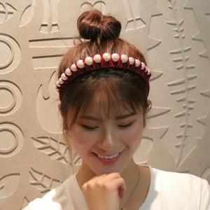 Personalisierte Stirnband mit Perlen-Haar-Art-Frauen mit Stirnband-Alice-Band Cerchietto Haarreif Haarband Online TvSfQ