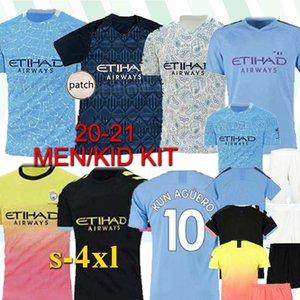 FC manchester calcio Jersey City 20 21 G. JESUS maglia da calcio Mahrez De Bruyne KUN AGUERO Mendy 2020 2021 uniformi uomini uomo + bambini Thailandia