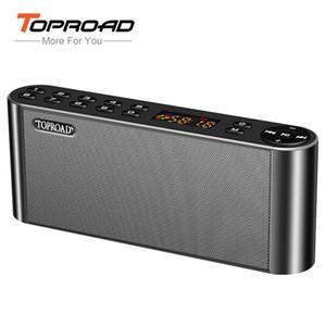 Toproad Hifi Bluetooth Динамик Портативный Беспроводной Super Bass Двойные Колонки Soundbar С Микрофоном Tf Fm Радио Usb Звуковой Ящик T190704