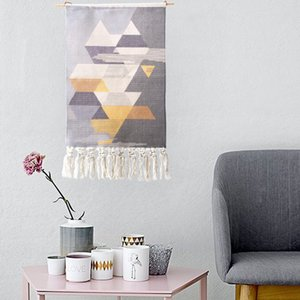 Morocco geometric tassel tapestries decorated fabric art simple tapestry wall hanging mexican home decoration boho decor
