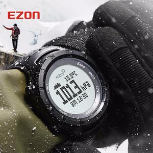 Ezon 남자 디지털 야외 스포츠 시계 시계 여성 방수 Y19070603 하이킹에 대 한 다기능 고도 기압계 나침반