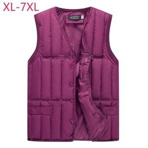 New Cotton Women Vest Plus Size XL-7XL Winter Short Outerwear Waistcoat Solid Thicken Warm Sleeveless Jackets Korean Style Vest