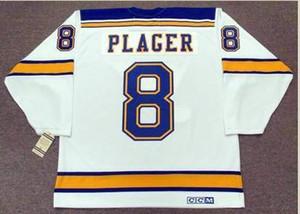 Custom hombres jóvenes mujeres Vintage #8 BARCLAY PLAGER St. Louis Blues Hockey Jersey tamaño S-5XL o personalizado cualquier nombre o número