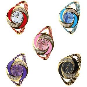Good quality alloy steel wire rope bracelet watches fashion women ladies students leisure dress gift quartz wrist watches