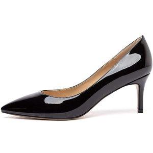 Dossic Femmes Classic Slip On talon bas pompes bout pointu de base Heels 6.5cm Confortable Chaussures de bureau