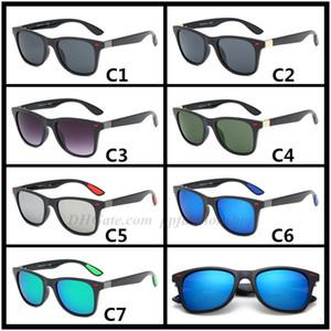 موضة جديدة 4509 العلامة التجارية النظارات الشمسية الاتجاه الرجال والنساء النظارات الشمسية الكلاسيكية الرجعية مصمم النظارات الشمسية الجملة 7 ألوان