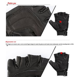 Cycling Gloves Men Breathable Army Training Gloves Black Combat Airsoft Paintball Fingerless Sport For Climbing Shooting Gloves