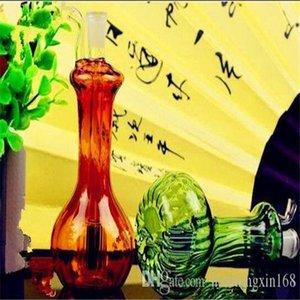 Full color vase multiple hookah Wholesale Glass bongs Oil Burner Glass Water Pipes Oil Rigs Smoking, Oil.
