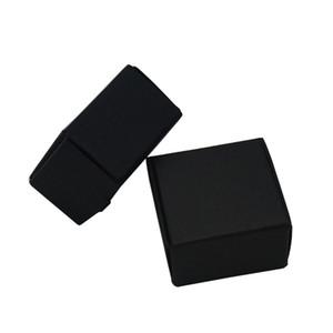 100PCS / 많은 3.7x3.7x2cm 블랙 미니 크래프트 종이 상자 보석 장식은 두꺼운 종이 상자 포장