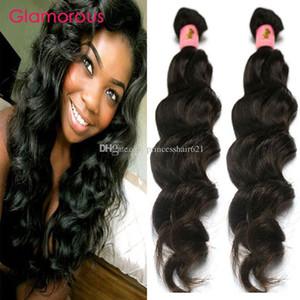 Vierge glamour Humain Cheveux The Trafier 2 Bundles Weave Brésilien 8-34 pouces Prix bas prix Péruvien Indian Malaisien Wavy Hair Extensions de cheveux Queen Coiffeur
