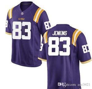 Hommes personnalisés femmes jeunes LSU Tigers Jaray Jenkins # 83 Football Jersey taille S-4XL ou sur mesure tout maillot de nom ou le numéro