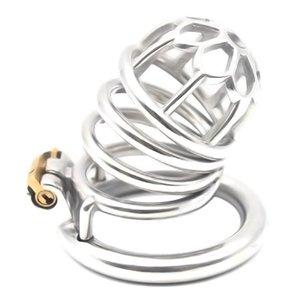 Chastity Chastity Equipment Equipement Secret Acier Inoxydable Head Lock Lock FRRK Lock Pluune Produits adultes Cage Euhao