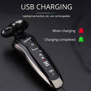 Hommes Lavable électrique rechargeable rasoir électrique raser la barbe rasoir rechargeable machine Tinton VIE