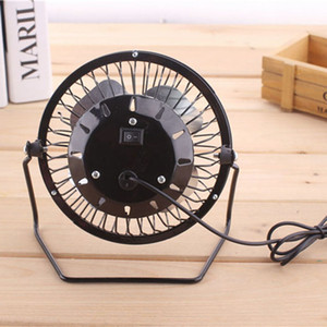 4 Inch portátil USB Mini desktop Fan alumínio USB 4 Blades Home Office refrigerador refrigerar Car Fan pequeno Estudantes Outdoor portátil Fan DH1452 T03