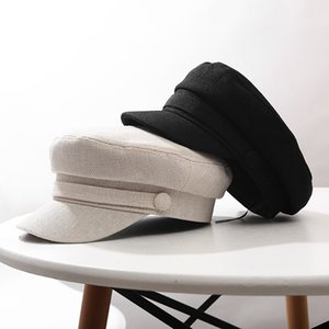 New Retro Newsboy Caps Pure Color Octagon Hat Cotton Tongue Beret Men Women Newsboy Painter Cap Sun Visor Hats