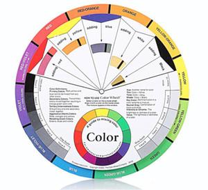 Tekerlek Rehberlik Yuvarlak merkez Çember döndürür Dövme Tırnak Pigment Karıştırma Profesyonel 12 Renk Kağıt Kart Üç katmanlı Tasarım rengi