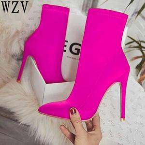 INS Hot EGO Carson Plus Größe 43 Spitz Stilettos High Heel Schuhe Frau Stiefel Mischfarbe Carda Elsie Bootie Chesta Rot Schwarz