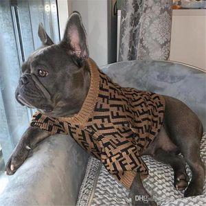 INS رسالة موضة الحيوانات الأليفة كنزة الشتاء مطاطا تيدي أفطس البلوز العصرية لمسة ناعمة الحيوانات الأليفة ازياء ملابس