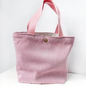 2020 nuevo de las mujeres pana sólido almuerzo Min caja de almacenamiento de picnic Bolsas mezcla del color de la bolsa de asas