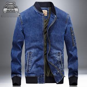 ceket Masculino üzerinde XingDeng moda kot ceket erkek kot ceket stand-boyun giysiler işlemeli