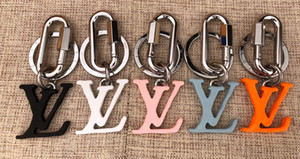 Fashion brand key chain for men and women of high quality senior man stainless steel letter key chains 5 style bag pendant key chain