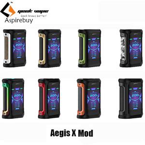 Geekvape Aegis X Mod Vape 200 W 2.0 AS Chipset Boîte de Cigarette Électronique Imperméable MOD adapté Cerberus Tank vs Vaporisateur Ageis Solo Authentic