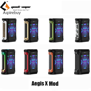 Geekvape Aegis X Mod Vape 200W 2.0 AS Chipsatz Wasserdichte elektronische Zigarettenschachtel MOD für Cerberus Tank gegen Ageis Solo Vaporizer Authentic