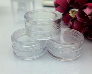 Plastic Container Jars Pot 5 Gram Cosmetic Cream Eye Shadow Nails Powder Jewelry 0.17oz Clear Empty Free Shipping