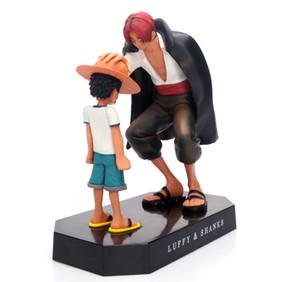 Una pieza de una pieza del sombrero de paja Luffy Shanks pelo Figuras Escena versión de la cabeza del coche modelo de la decoración del juguete