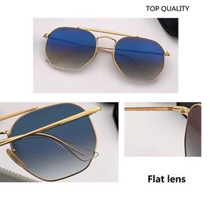 2020 neue Top-Qualität der Männer Sonnenbrille Unisex-Art-Metallscharniere UV400 Blitz Objektiv Jahrgang Platz Oculos De Sol Masculino 3648 mit Kasten-Kasten
