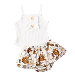 New 2PCS Toddler Kids Baby Girl Summer Clothes Suspender Vest Romper Jumpsuit Floral Shorts Pants Outfits Set