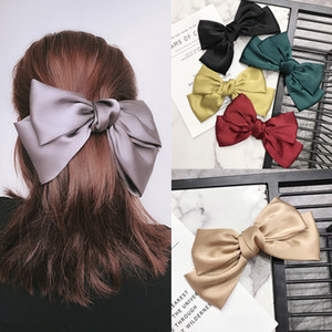 Retro Bow Noeud Femmes Hairpin Personnalité Mignon Charm Lady Big Barrettes Outdoor Indoor Lovely Girls Barrettes