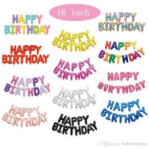 16 inch 40cm birthday decorative balloon Aluminum Film Balloons Kids Birthday Helium Balloon Party Decorations Supplies