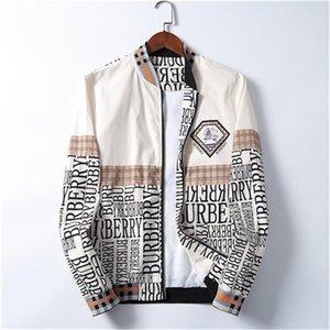 Fashion Jacket Windbreaker Long Sleeve Men's Jacket Hoodie Clothing Zipper with Animal Alphabet Pattern Plus Size Clothes