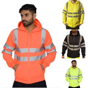 Les hommes de style artificier Zipper Sweat à capuche Veste à capuche en molleton Jumper Fermeture à glissière travail chaud Casual Sweat à capuche