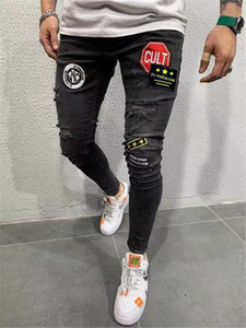 Mens Biker Jeans New Spring Autumn Hommes Pencil Pants Pantalones High Street Stretch Men Designer Jeans