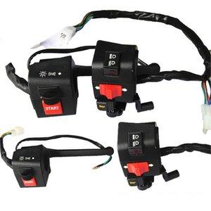 """Moto 7/8"""" Controllo manubrio Interruttore dell'avvisatore acustico segnale di girata della nebbia del faro Lampada elettrica Interruttore di avviamento Moto Parti per DY100"""