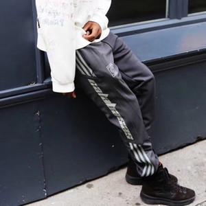 Homens Cotton elástico na cintura Sweatpant listradas Sweatpants Casual
