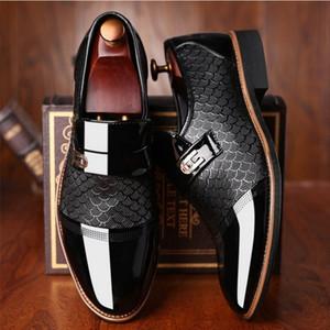 2019 sapatos masculinos formais oxfords casamento negócios mens social Handsome vestir sapatos # SH3393