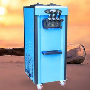 three flavor vertical soft ice cream machine Brand Automatic Soft Gelato Commercial Ice Cream Making Machine