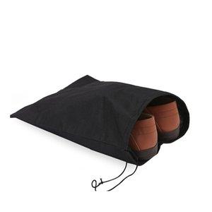 2pcs Início Shoes Organizer Preto prova de poeira portátil Ambiental Durable Viagem Non Woven armazenamento caso com cordão