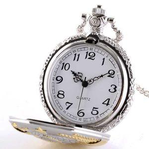 100pcs lot Fashion Silver and Gold Soviet Sickle Hammer Style Quartz Pocket Watch Men Women Pendant Gift Watches Wholesale
