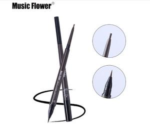 Музыка цветок макияж глаз матовый двойной глава карандаш для бровей + Брови подкрасить жидкость водонепроницаемый длительный натуральной косметики