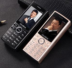 D1000 de lujo push-botton teléfono móvil de 2,4 pulgadas Dual SIM del teléfono celular de marcación rápida celular linterna MP3 FM Radio banco de la energía del móvil