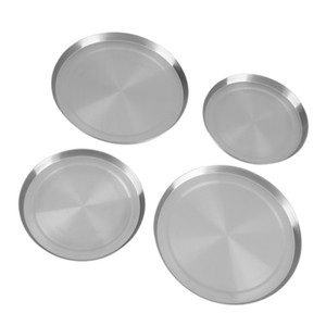 Stove Burner Covers, Set of 4, Silver