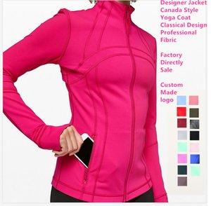 50 Colori l donne Outwear primavera cappotto u progettista del rivestimento di Lady Sport Abbigliamento Yoga Lycra Fibre stessi di stile jogging l Giacca u