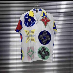 20ss Mens Casual Shirts Multicolor Buchstaben drucken Herren Kleidung kurze Ärmel Frauenmantel Top Qualität tag New
