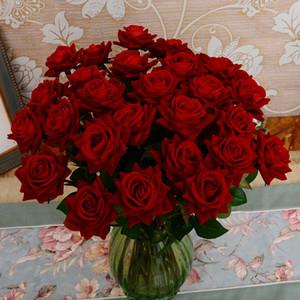 Yeni Tasarım 5Pcs Fransız Romantik Düğün Dekorasyon Yapay Gül Çiçek DIY Kadife İpek Çiçek Parti Home için
