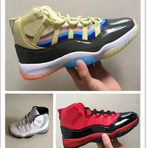 새로운 11 XI 농구 신발 3D 다채로운 남성 스포츠 화이트 시멘트 디자이너 운동화 고품질 싼 남성 트레이너 레드 할인 크기 7-13